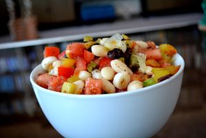 White bean chips salad by Sintorion