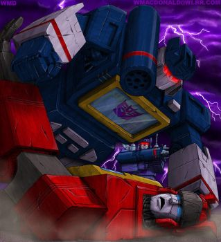 Soundwave and blaster by UNICRON-WMD