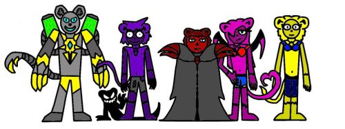 The Five End Worlders by VeltosM4ster