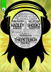 Bearded Theory Face Flyer by thedropinn