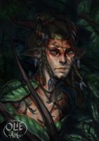 Dryad Ranger by Olieart