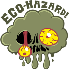 Ecohazard shirt design by scythemantis