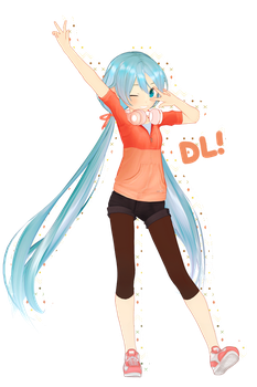 GG's Casual Miku DL by garbagegobble