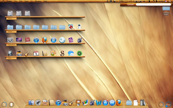 Wooden Theme Lion (Hackintosh PC) by jagaa85