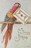 Colorful Birthday Birdmail by Yesterdays-Paper