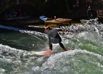 Surfer at Eisbach by TheCathArt