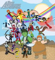 Teen Avengers, Assemble by MCsaurus