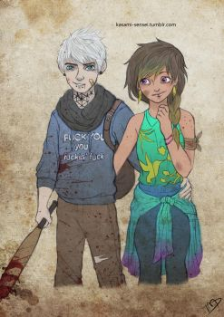 The Walking Dreamworks : Jack and Toothiana by Kasami-Sensei