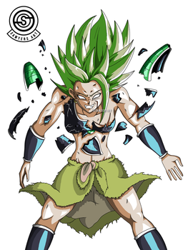 [DragonBall] Kale new Broly outfit destroys armor by MrSawyer10