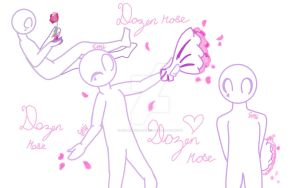 Main OC - Dozen Rose by Strawberrybearz