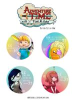 Adventure Time - Button Set by phobialia