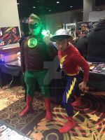 WinterCon 2015: Green Lantern and Flash by ShawnAtkinson