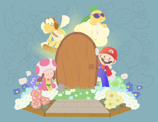 Paper mario folder favourites by azngamer405 on deviantart gigasghosts 15 0 flower fields by mister saturn mightylinksfo