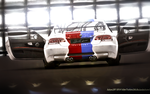 BMW M3 blue and red 4 by Artsoni3D