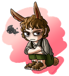 A Slightly Annoyed Bunny by Deathlydollies13