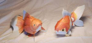 Goldfish papercraft by ALIENmantis