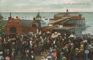 Vintage European Postcards - The Pier, Southend by Yesterdays-Paper