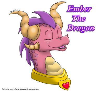 Ember the dragon by drazzy-the-dragoness