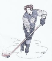 Commission - Hockey Player!Bucky by DeanGrayson