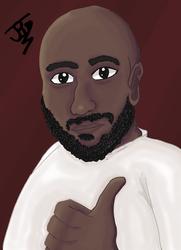 Commission portrait for uncle(Critique welcome) by AbsoluteNerd10099