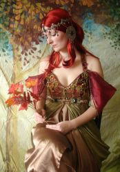 Autumn Mucha Portrait 2 by mizzd-stock