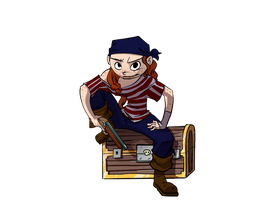 Pirate 3 - Fiverr Commission by etchant