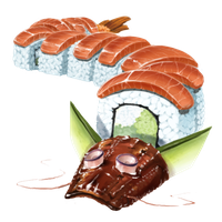 Dragon Roll Sushi 200 Crystals by The-Below