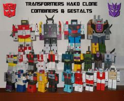 HAKO CLONE - COMBINERS and GESTALTS by davidgrone