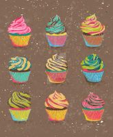 Cupcakes by gb-illustrations