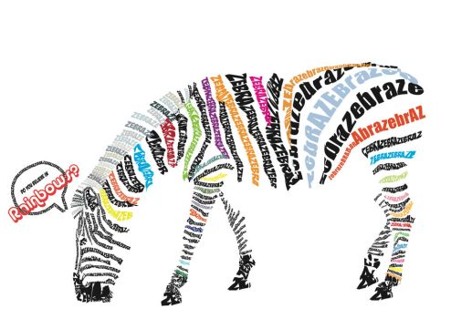 Zebra Typography by oragamiknight