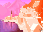 Speed iPad finger painting - Hallstatt, Austria by chaseroflight