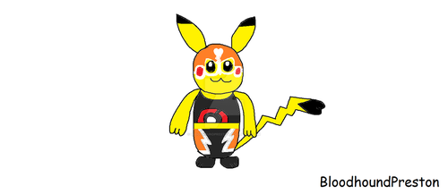 Fanart of Pikachu Libre by BloodhoundPreston