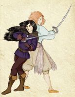 Yrdin and Luna - Swordfight by SoniaCarreras