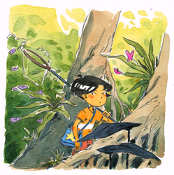 The Coral Cave - watercolor sketch by Atelier-Sento
