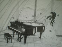 butterfly piano by baraczk