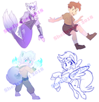 Commission Sketch Batch 1 by Shellsweet