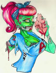 +Zombie Pin Up+ by HellAndroid