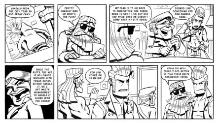 Booger and the Losers: Graffiti Pg4 by StickDinosaur