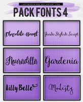 Pack Fonts 4 by LadyWoolridge