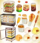 MMD Convenience store Food set ver1.0 MODEL DL by Hack-Girl