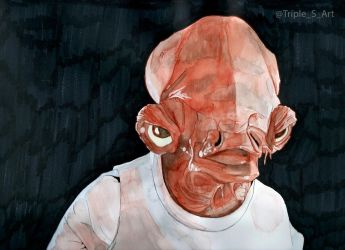 Admiral Ackbar by TripleS-Art