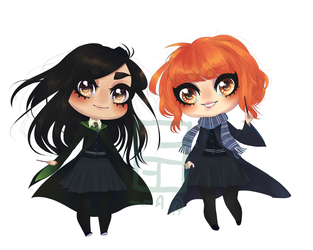 Ravenclaw and slytherin by Rhunme