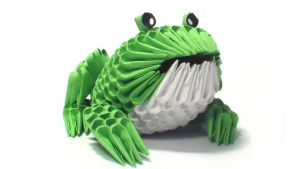 3D origami frog by Girnelis