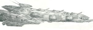 Space Battleship by PrinzEugn