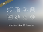 Social media thin icon set by Martaxrodriguez