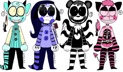 [CLOSED] Some More Creeps by D00DLE-ADOPTS