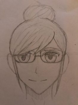 Anime girl and glasses by Soul-watch