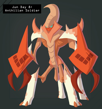 CDC Jun 2018 Day 9 - Anthilian Soldier by EVanimations