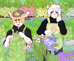Gardening Day by cryptidroad
