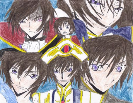 Lelouch Collage by CosmerArt